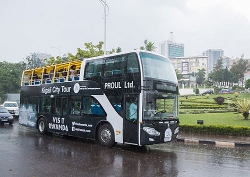 Rwanda's first double-decker sightseeing bus