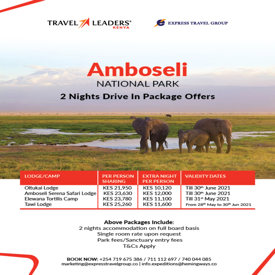 Amboseli National Park - 2 Nights Drive In Package Offers