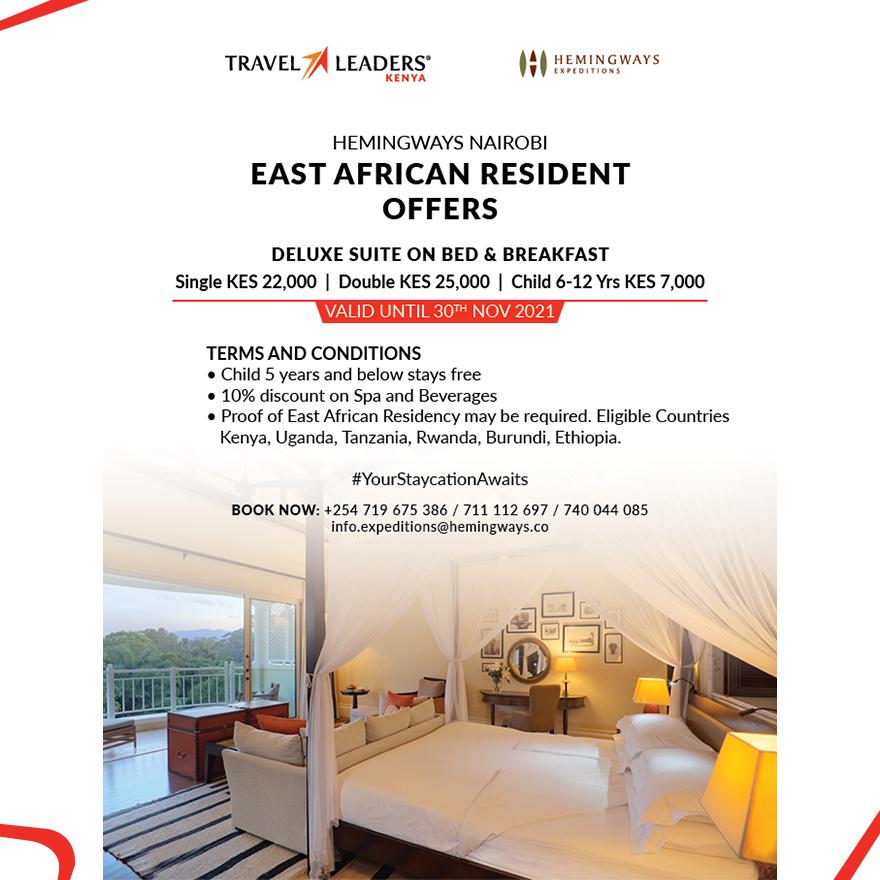 Hemingways Nairobi - East African Resident Offers