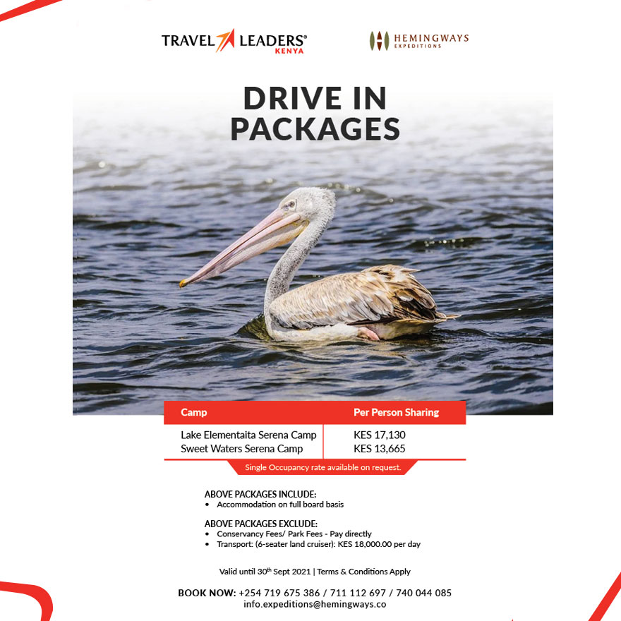 Elementaita Drive in Package Offer