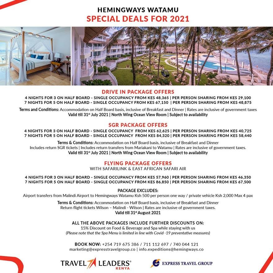 Hemingways Watamu - Special Deals 2021