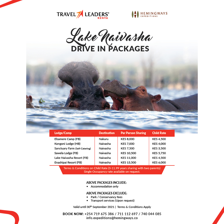 Lake Naivasha  Drive in Package Offer