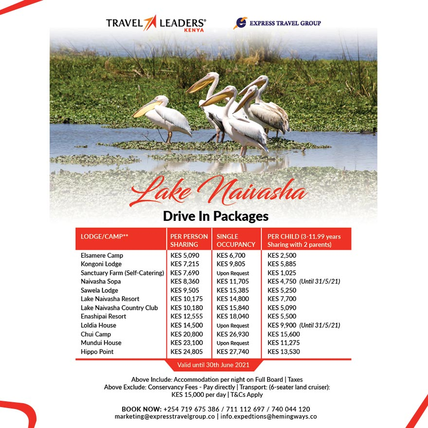 Lake Naivasha - Drive in Packages